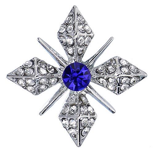 Broche de oro con estrella de cristal, alfiler para hombres y mujeres, traje, cuello de camisa, accesorios de ropa, alfileres y broches de diamantes de imitación