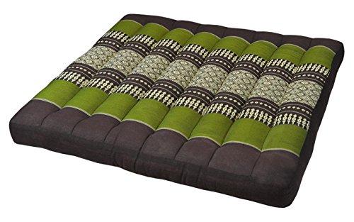 Wifash Cojín Llano para Silla butaca sofá (50x50), Fabricado en Tailandia, marrón/Verde (82019)