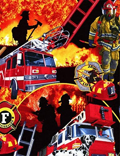 Gempajk 5D Diamond Painting Kits for Adults and Kids Firefighter fire Truck Full Drill Diamond Art Kits and Crafts Diamond Painting by Number Kits for Home Wall Decoration AB0217-Square Drill_30x40cm