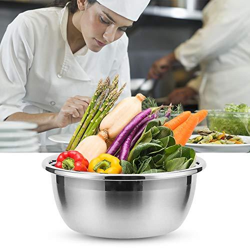 Wankd Function Bowls Küchenschüssel, Edelstahl, multifunktional als Rührschüssel Salatschüssel Servierschüssel, stapelbar, 20CM