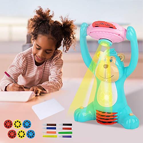Janly Clearance Sale Juguetes educativos, escritorio de proyector inteligente para niños con pincel ligero de aprendizaje de pintura máquina de 5 ml, juguetes y pasatiempos para regalo de niños