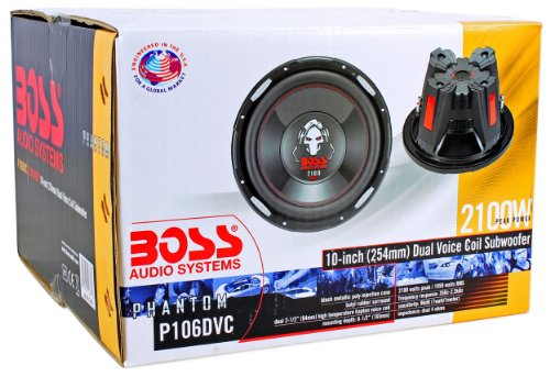 "BOSS Audio Phantom P106DVC 10"" 4200W DVC Car Subwoofers Power Subs Pair"
