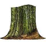 Grüner Wald Dschungel Flauschig Kuscheldecke Warme Weiche Flanelldecke als Tagesdecke SofaüBerwurf Wohnzimmer Couch Outdoor Picnic Plaid Schlafdecke-180x240cm