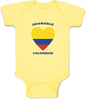 Custom Boy & Girl Baby Bodysuit Adorable Colombian Heart Cotton Baby Clothes