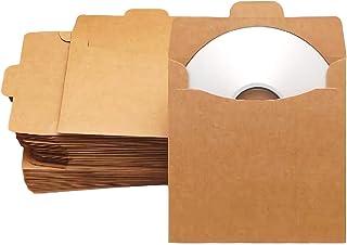 [ウレギッシュ] クラフト紙 無地 CD DVD 整理 収納 ケース 50枚 セット