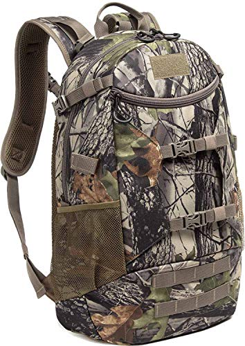 AIRTTUZ Hunting Backpack Outdoor Daypack Hunting Pack for Men with Rain Cover. (Camo)
