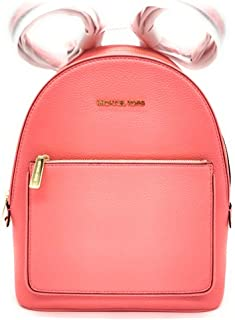 Michael Kors Womens Medium Backpack Adina Leather Grapefruit