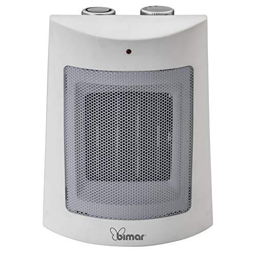bimar HP108 Stufetta Elettrica, Termoventilatore Elettrico da 1500W a Basso Consumo con Termostato Regolabile e 2 Potenze di Riscaldamento, Corpo in Plastica con Maniglia Integrata