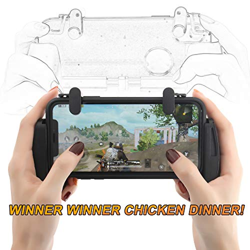 ZOEMO All Metal PUBG Mobile Trigger, Mobile Game Controller with Triggers and Gamepad for PUBG/Call of Duty/Fotnite Upgraded Version for iPhone iOS/Android