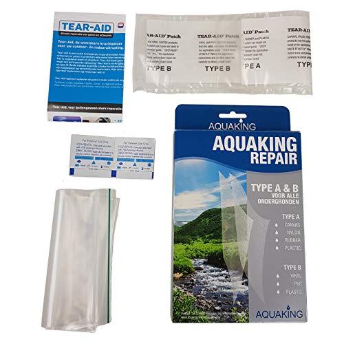 AquaKing Repair Patch Zelfklevende reparatie sticker nylon patch voor tenten, rugzak, luifels, opblaasboot, luchtbed, canvas, nylon, rubber, plastic, vinyl en PVC