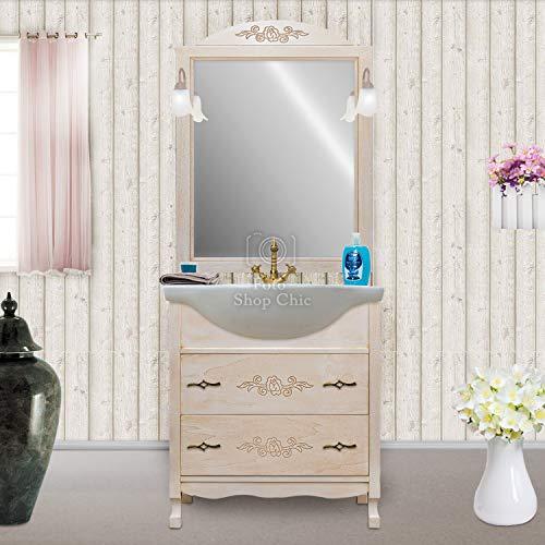 Shop Chic Arredo Bagno 75 Classico Mobile Bagno decapato Specchio Intagliato