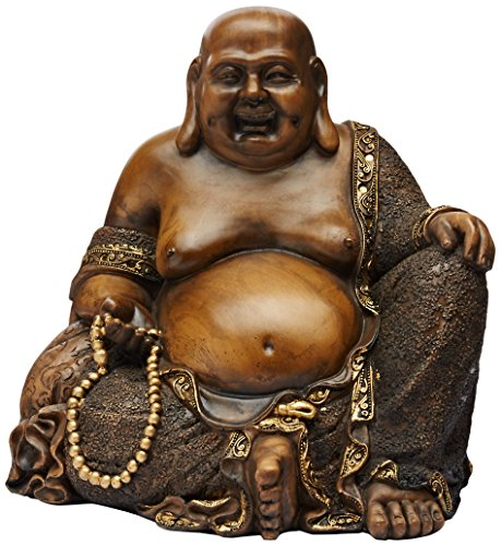 Oriental Furniture 10' Sitting Hotei Happy Buddha Statue