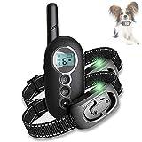 Collar de Adiestramiento para Perros con Control Remoto de 300m Collar Antiladridos para Perros Recargable con Vibración y Sonido
