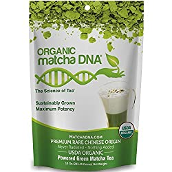 🍵DELICIOUS AND NUTRITIOUS TEA: 10 oz Tin Can of MatchaDNA Organic Green Tea Powder is naturally packed with antioxidants, vitamins, minerals, amino acids and EGCG's. 🍵100% USDA CERTIFIED ORGANIC - All MatchaDNA teas are USDA Certified Organic. Our fa...