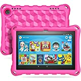 TiMOVO Funda Compatible con All-New Fire HD 8 Tablet (10th Generation, 2020 Release), Portátil Prueba de Choques Ligera Kids Protector Compatible con Fire HD 8 & 8 Plus 2020 Tableta - Magenta