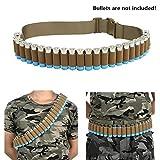 FIRECLUB Shotgun Shell Bandolier Belt 12/20 Gauge Ammo Holder for Tactical Military Hunting (29 Rounds, 140cm) (Tan)