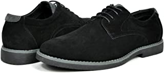 Men's Suede Leather Oxford Classic Dress Shoes Business Casual Shoes