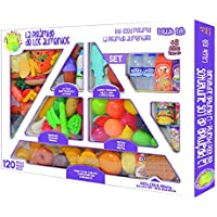 Tachan - Set de 120 piezas de pirámide alimenticia, multicolor (Tachan 7288080)