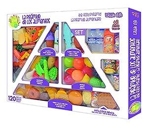 Juego educativo con el que los niños aprenderán a reconocer los alimentos más saludables y como tomarlos para crecer fuertes y sanos Se trata de un set muy completo con alimentos de todo tipo junto con un desplegable en el que aparece una pirámide al...