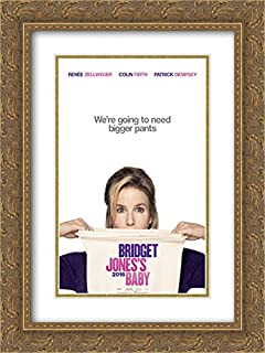 Bridget Jones's Baby 18x24 Double Matted Gold Ornate Framed Movie Poster Art Print