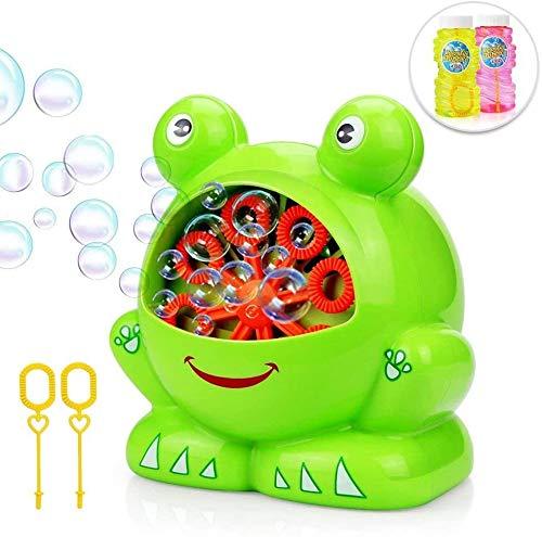 YQZ Máquina automática de Burbujas para niños, con 2 Botellas de líquido, Juguetes para Hacer Burbujas para bebés, 500 Burbujas por Minuto, Regalos para Juegos al Aire Libre en Interiores