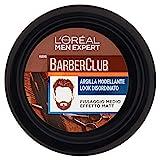 L'Oréal Paris Men Expert Crema Barber Club, Argilla Modellante Effetto Matt e Rimodellabile per un Look Disordinato, per Capelli Corti, Medi e Lunghi, 75 ml, Confezione da 1