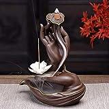 Yoga Decorazione detentori di incenso Statue Statue Decorative Accessori per la casa Figurine da collezione, Bruciatore di incenso Backflow con 10pcs Cono di incenso di backflow del backflow, Home Bru
