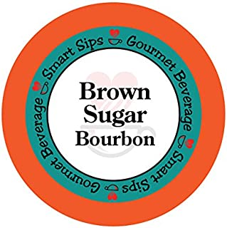 Smart Sips Coffee, Brown Sugar Bourbon Coffee, Medium Roast Gourmet Flavored Coffee Pods, 24 Count, Compatible With All Ke...