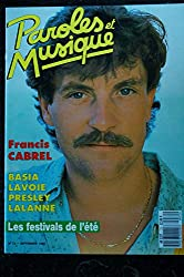 Paroles & Musique 1987 09 n° 72 FRANCIS CABREL BASIA LAVOIE PRESLEY LALANNE