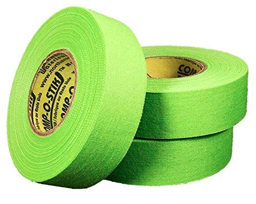 Comp-O-Stik 3Rollen Neon Grün Hockeyschläger Lacrosse Bat Tuch Athletic Tape (3Pack) Made in die USA 2,5cm X 60'