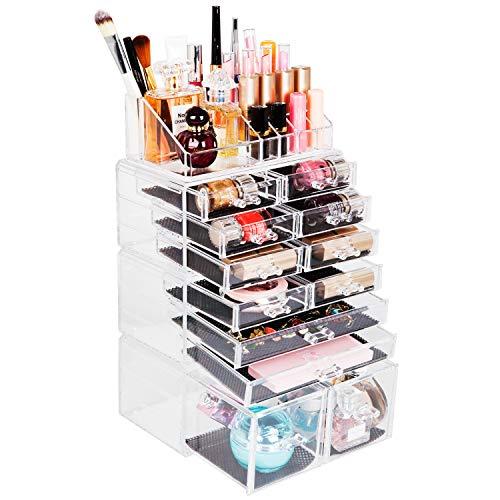 Readaeer Scatola cosmetici trucchi e makeup con 12 cassettiere