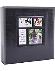 Artmag Photo Picutre Album 4x6 1000 Photos, Extra Large Capacity Leather Cover Wedding Family Photo Albums Holds 1000 Horizontal and Vertical 4x6 Photos with Black Pages (Black)