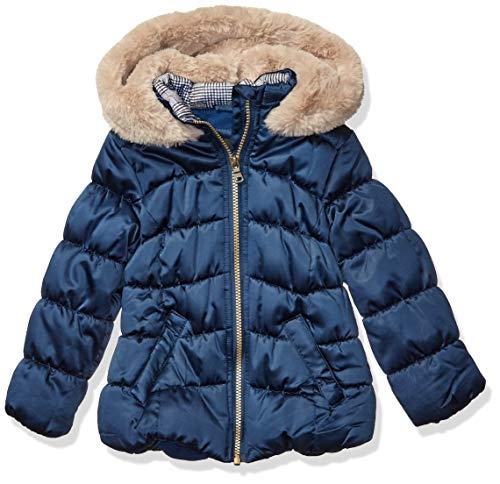 Jessica Simpson Mädchen Warm Winter Coat with Asymetrical Closure Jacke, Ink, 6X