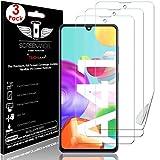 TECHGEAR [3 Piezas Protector de Pantalla Compatible con Samsung Galaxy A41 [Screen Angel] Alta Definición Pantalla con Cobertura Completa [Sin Burbuja] [Compatible con Huella Digital]