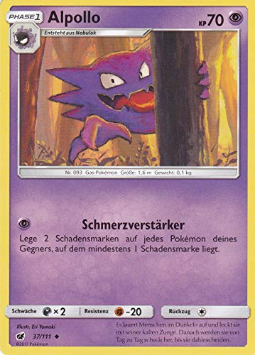 37/111 - Alpollo - Uncommon - Pokemon - Deutsch - Aufziehen der Sturmröte