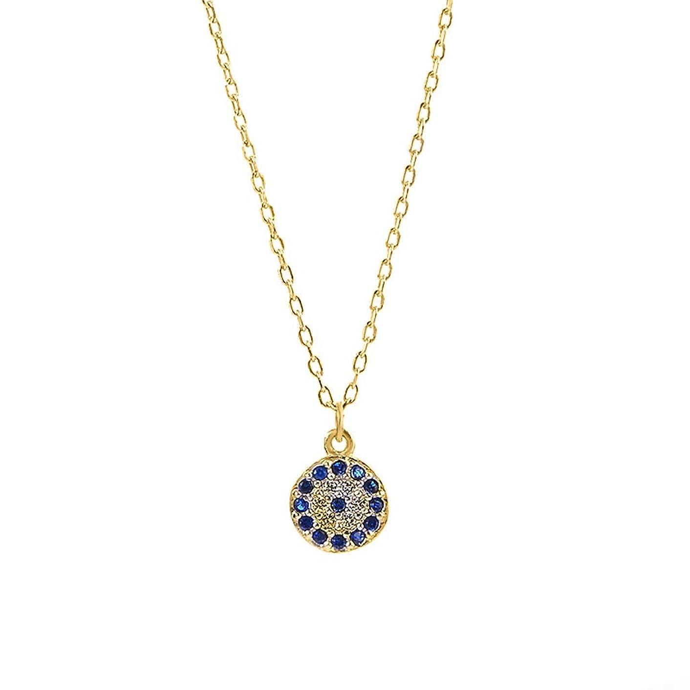 liumiKK CZ Small Evil Turkish Eye Pendant Necklace Blue Crystal Eye Choker Lucky Jewelry