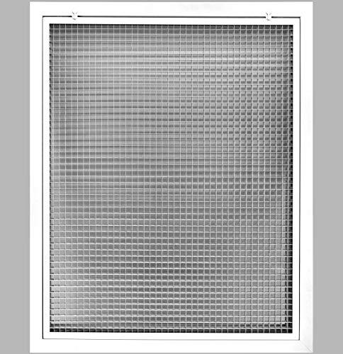 Rejilla de filtro de aire de retorno de caja de huevo de 28 pulgadas x 34 pulgadas para filtro de 1 pulgadas, aluminio – blanco...