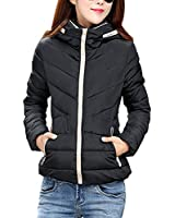 YMING Black Down Coat for Wome...