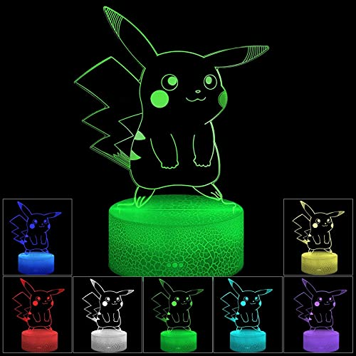 Luz De Noche Led De Ilusión 3D, Lámpara De Mesa Usb Con Interruptor Táctil De Cambio Gradual De 7 Colores Para Regalos Navideños O Decoraciones Para El Hogar (Estilo De Grieta)
