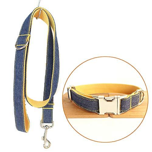 TVMALL Juego de Collar Ajustable para Perro al Aire Libre, Collar para Mascota, Collar Vaquero Resistente para Perros Pequeños, medianos y Grandes