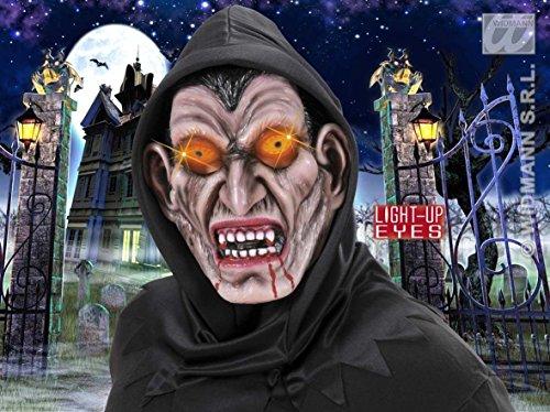 Hooded Vampire Masks Light - Up Eyes