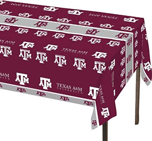 Creative Converting Texas A And M University Theme Plastic Tablecloth, Aggies