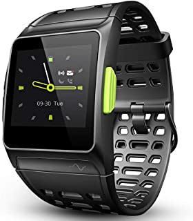 LUKAWIT Fitness Tracker GPS Running Watch, Activity Tracker with Heart Rate Monitor, HRV Analysis, Pedometer, Sleep, Steps Tracker with Multi-Sports Modes, 5ATM Waterproof Bluetooth Smart Watch