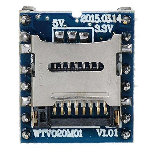 YiWu WTV020-SD Micro SD-Karte / MP3 / Game Player Voice Module - Blau + Schwarz Zubehör