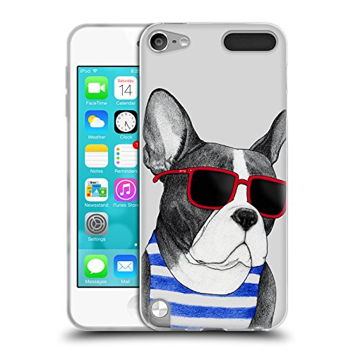 Head Case Designs Officially Licensed Barruf Frenchie Summer Style Dogs Soft Gel Case Compatible with Apple iPod Touch 5G 5th Gen