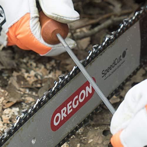 Oregon Q70509C Lima tonda, 4 mm, confezione da 3