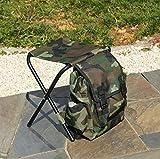 BestFire Bolsas para sillas de camping, mochila plegable para sillas de pesca, para camping, picnic, caza, pesca, senderismo, playa, barbacoa