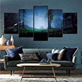 mmkow 5-Piece Painting Set of Framed Art Video Game Horizon Zero Dawn Photo Home Decoration Art 50x100cm (Frameless)