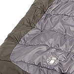 Coleman 705888-SSI Big Basin 92x39 Inch Hybrid Sleeping Bag Brown/Grey - multi, N/A