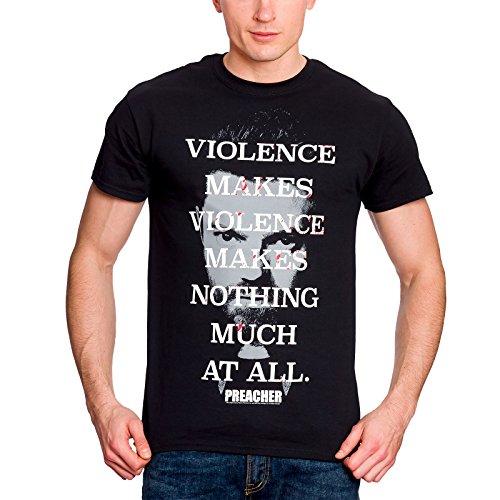 Predicador Camiseta para Hombre de la cuota Violencia Negro de algodón Jesse Custer - S